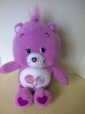 "Care Bears Share Bear Plush 10"" Stuffed Animal Purple Lollipops 2006 TCFC"