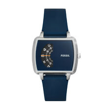 Fossil JR1289 THE METER Blue Silicone-Strap Watch