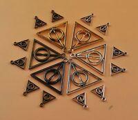 Bulk Lot Deathly Hallows Harry Potter Triangle Charm Pendant Bracelet Necklace