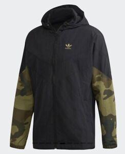 adidas Men's Originals Camouflage Windbreaker Full Zip Jacket Size L (FM3359)
