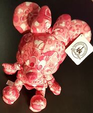 """Disney Parks*10"""" Minnie Mouse Plush*Pink Heart Icon Print*Bendable arms and legs"""