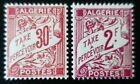 FRANCE COLONIE ALGÉRIE TIMBRE TAXE N°25/26 NEUF ** LUXE MNH