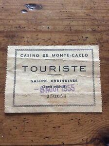 Vintage casino monte carlo entry ticket salons ordinaires