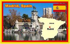 MADRID, SPAIN - SOUVENIR NOVELTY FRIDGE MAGNET - SIGHTS / FLAGS - NEW - GIFTS