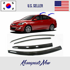 3D SMOKED DOOR VISOR WINDOW SUN VENT DEFLECTOR HYUNDAI ACCENT SEDAN 2012-2017