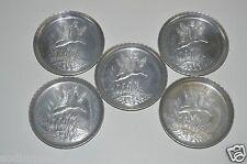 Vintage Aluminum DUCKS Hunting Cocktail Mid Century Drink Coasters Lot of 5
