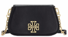 NEW TORY BURCH (39058) PEBBLED LEATHER BRITTEN MINI BLACK BAG HANDBAG PURSE