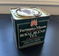 Fortnum And Mason Royal Blend Tea Indian Ceylon Vintage 80s empty tin