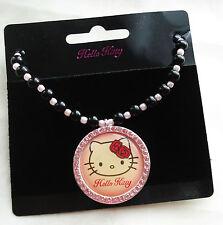 """Hello Kitty Perlen-Halskette """"Collier Bead KT"""" mit Kitty Anhänger Strass NEU !"""