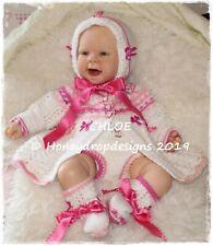 CHLOE * 7 objet papier Tricot Motif * 0-6 mois reborn/baby honeydropdesigns