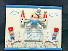 Vintage Wooden 3-D Humpty Dumpty Wall Nursery Rhyme Wall Hanging