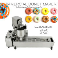 Commercial Automatic Donut Maker Making Machine, Wide Oil Tank, 3 Sets Mold