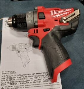 """Milwaukee 2503-20 M12 FUEL 1/2"""" Cordless Drill Driver- Brushless  NEW FREE SHIP"""