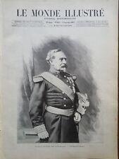 MONDE ILLUSTRE 1897 N 2113 LE GENERAL CHARLES DENIS BOURBAKI EST MORT, A BAYONNE