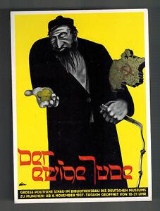 1938 Germany Postal Stationery Postcard Eternal Jew Movie Promo Mint