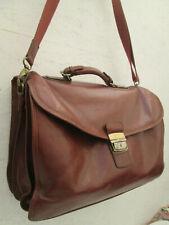 -AUTHENTIQUE   sac type cartable  HEXAGONA cuir  TBEG vintage bag