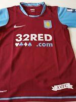 superbe maillot  de football Aston villa 10/12 ans  nike