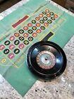 Vintage Josa Games Good Luck Brand Bakelite Roulette Wheel & Mat