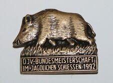 DJV Nadel, Bundesmeisterschaft Schiessen Jahr 1992 Jagd Jäger Jagdverband #A226