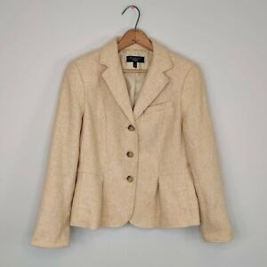 Talbots Wool Blazer Jacket Button Up Career Work 10 Petite Womens