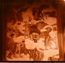 Stereo view on glass, painting erotic, what goes to heaven...