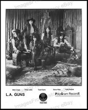 8x10 Print L.A. Guns Los Angeles Rock Band Coolest Shot 1980's #1011516