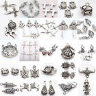 30 Styles Lots Bulk Mixed Tibetan Silver Tone Charms Pendants DIY Jewelry Craft