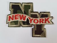 NEW YORK NY Camo Iron On Patch Sew On Transfer badge Brand New