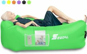 SEGOAL Inflatable Lounger Air Sofa Couch with Pillow, Portable