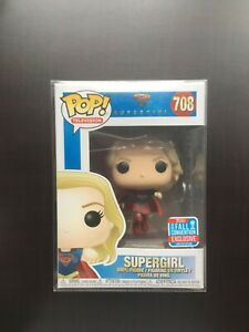 Funko Pop #708 Supergirl 2018 NYCC - Rare VAULTED Fall Convention Exclusive + PP