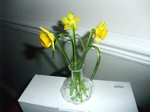 Glass Flowers Gift In A Vase Daffodils Beautiful Set Of Glass Daffodils New Gift