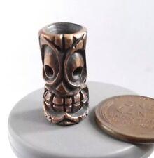 "Collectible Bead Bronze ""Tiki"" Knife Paracord Lanyard Handmade"