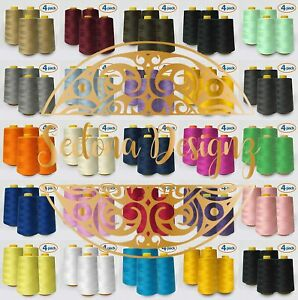 4 PACK of 6000 Yard each Spools Sewing Thread All Purpose 100% Polyester