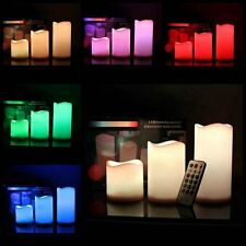 3 LED Candle Set With Remote Control Timer Lights Wax Flameless Battery Operated