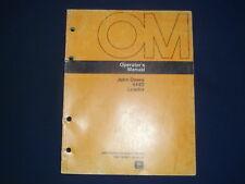 JOHN DEERE 444D LOADER OPERATORS OPERATION & MAINTENANCE MANUAL BOOK