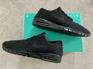 Mens Nike SB Air Max Stefan Janoski Trainers Casual Ltd BLACK CAMO (Box damage)