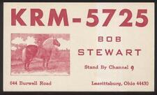 Postcard LEAVITTSBURG Ohio/OH  Ham Radio QSL Call Card 1960's