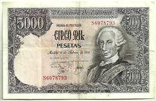 BILLETE DE 5000 PESETAS DE 1976 (MBC) CARLOS III (SERIE S)