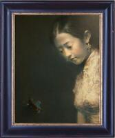 "Hand-painted Original Oil painting Portrait art chinese girl On Canvas 20""X24"""