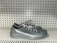 Converse Chuck Taylor All Star Metallic Ox Womens Athletic Shoes Size 7 Gray