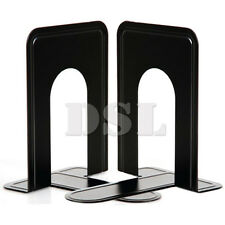 """2 Pair Black Heavy Duty Metal Book Ends 7"""" Home Office Stationery Base Protector"""
