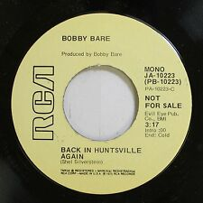 Country Nm! 45 Bobby Bare - Back In Huntsville Again / Warm And Free On Rca