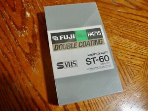 FUJI H471S Tape S-VHS ST-60 Sealed Master Quality Double Coating Tape
