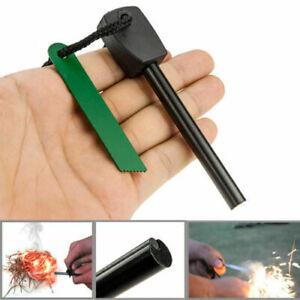 Camping Fire Starter Lighter Magnesium Flint Steel Striker Stick Survival Tool