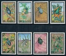 Mongolia #667-674 Insects/Beetles on Colorful Set of Eight Stamps  MNH