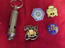 More details for girl guides 4 x badges and guides whistle 75 years , diamond jubilee ect 290