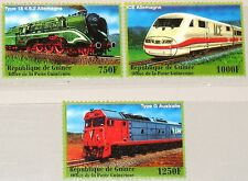 Guinea 2001 3112-14 1928-30 Locomotives locomotoras trenes trains ferrocarril mnh