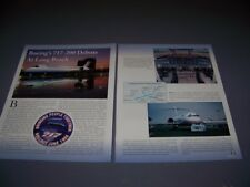 "VINTAGE..BOEING 717-200 ""DEBUT"" LONG BEACH..HISTORY/DETAILS/PHOTOS.RARE! (264P)"
