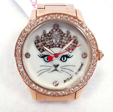 Betsey Johnson Women's Watches BJ00131-118 Cat/Crown Gold Stainless Steel - New!