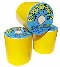 150mm yellow vinyl stripe sold by metre for car